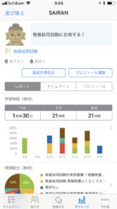 スタディプラスstudyplusの使い方マイページグラフ