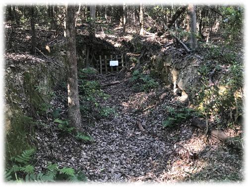 不気味な雰囲気を演出する耳成山の防空壕
